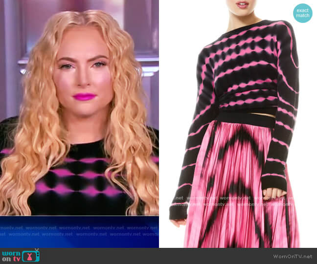 Gleeson Tie Dye Cashmere Blend Sweater by Alice + Olivia worn by Meghan McCain  on The View