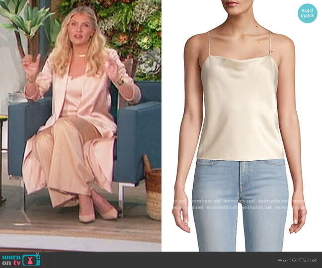 Harmon Drapey Satin Slip Tank by Alice + Olivia worn by Amanda Kloots  on The Talk