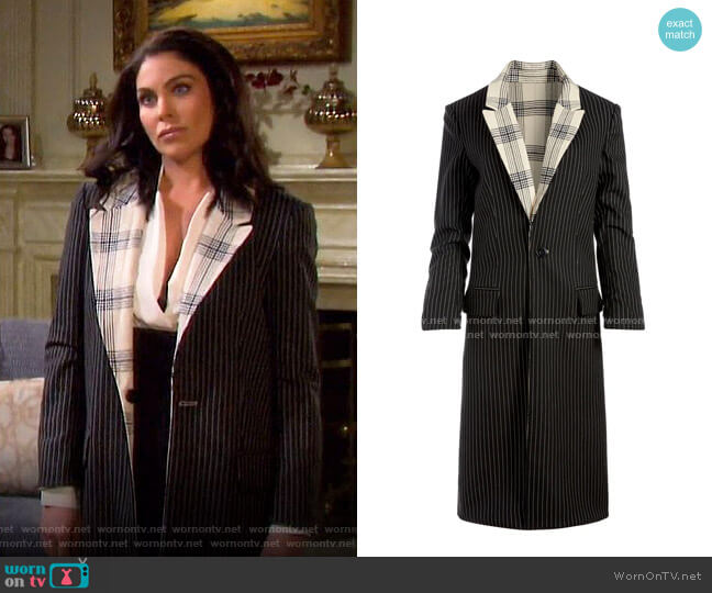 Ivan Reversible Boxy Coat by Alice + Olivia worn by Chloe Lane (Nadia Bjorlin) on Days of our Lives