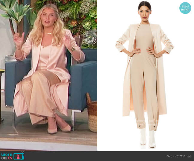 Linda Scrunch Sleeve Coat by Alice + Olivia worn by Amanda Kloots  on The Talk