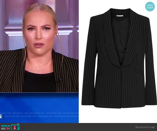 Skye Pinstriped Twill Blazer by Alice + Olivia worn by Meghan McCain  on The View