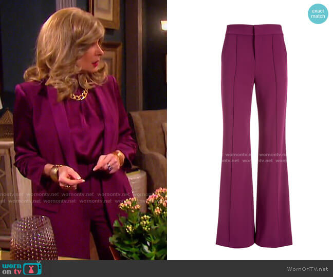 Dylan High Waisted Pant by Alice + Olivia worn by Cady McClain on Days of our Lives