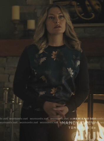 Alice's floral colorblock sweater on Riverdale