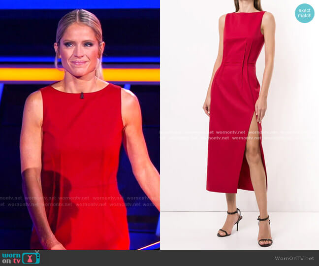 Ethel Dress by Altuzarra worn by Sara Haines  on The Chase