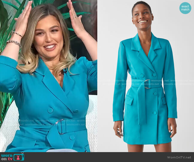 D-Ring Belted Mini Blazer Dress by & Other Stories worn by Carissa Loethen Culiner  on E! News