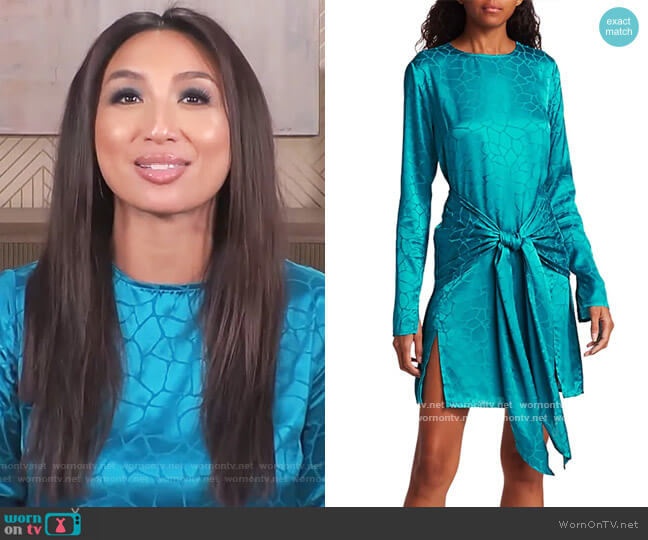 Eugenie Dress by The Andamane worn by Jeannie Mai  on The Real