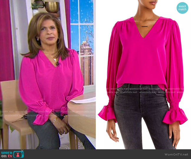 Puff Sleeve Top by Aqua worn by Hoda Kotb  on Today