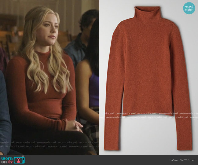 Darling Sweater by Aritzia worn by Betty Cooper (Lili Reinhart) on Riverdale