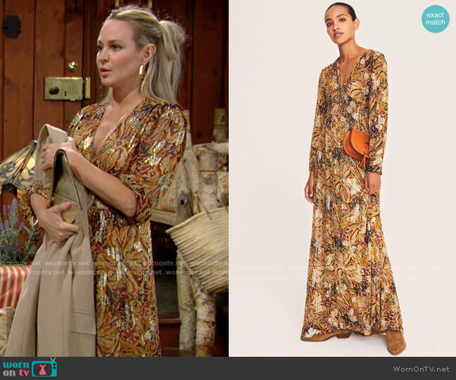 ba&sh Quartz Dress worn by Sharon Collins (Sharon Case) on The Young & the Restless