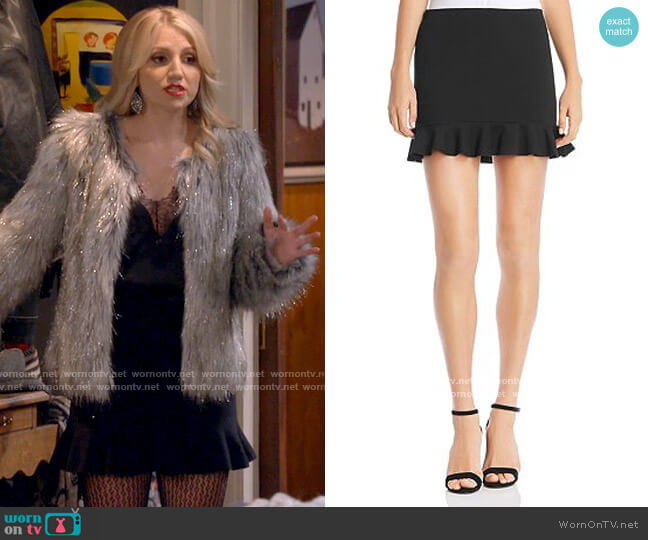 Bailey 44 Magic Ruffle-Hem Mini Skirt worn by Gina Dabrowski (Annaleigh Ashford) on B Positive