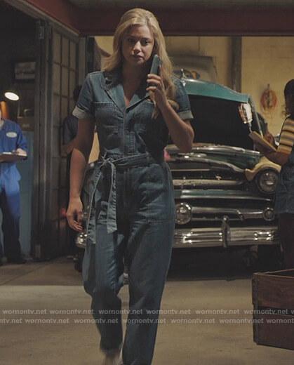 Betty's denim jumpsuit on Riverdale