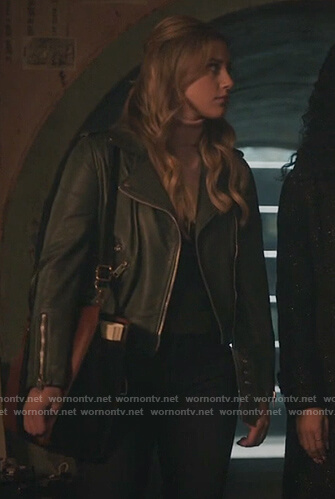 Betty's green leather moto jacket on Riverdale