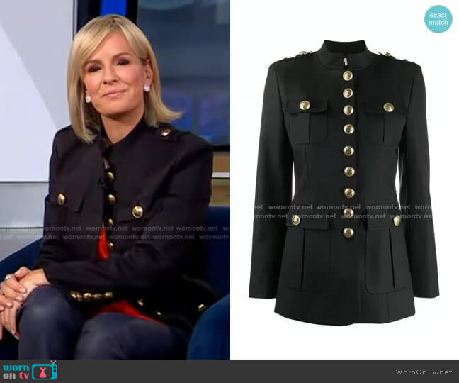 Button-up Military Jacket by Michael Kors worn by Dr. Jennifer Ashton  on Good Morning America