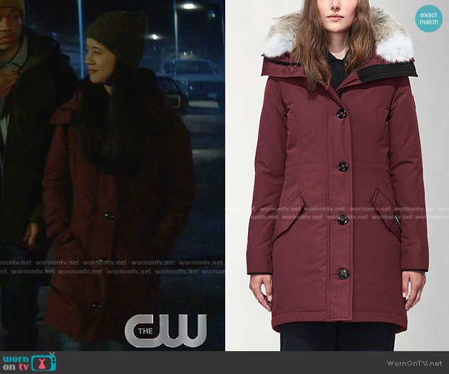 Rossclair Parka by Canada Goose worn by George Fan (Leah Lewis) on Nancy Drew