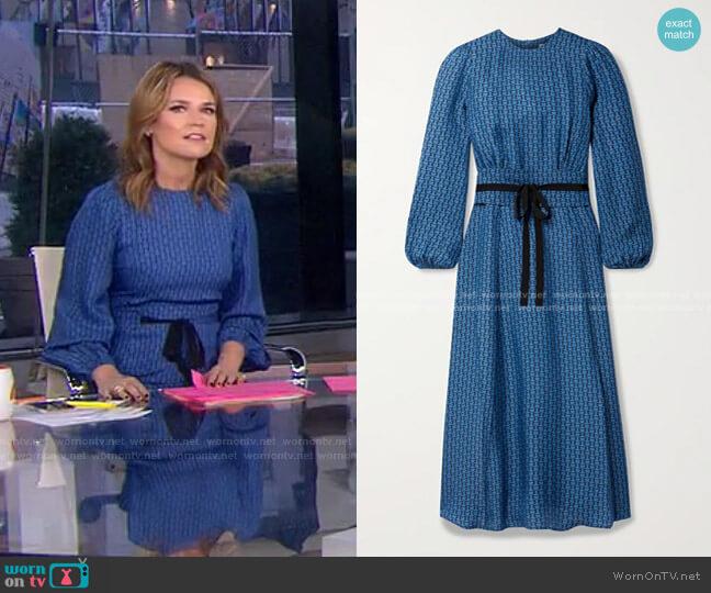 Selma Midi Dress by Cefinn worn by Savannah Guthrie  on Today