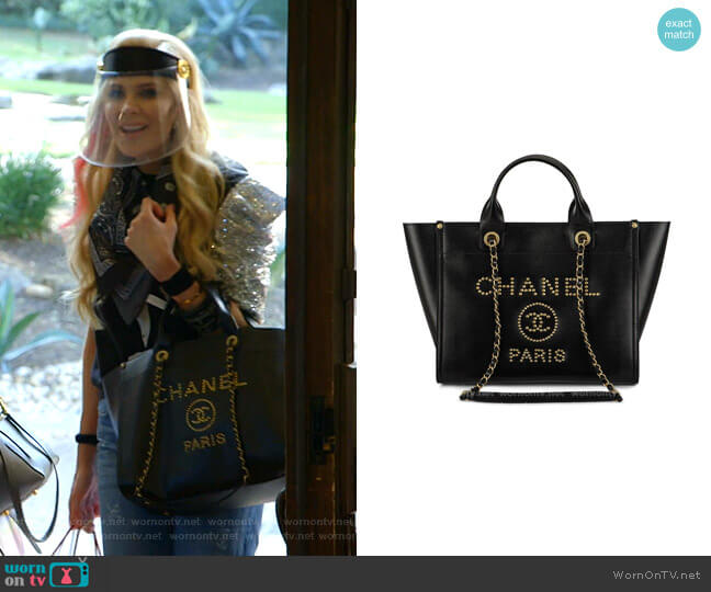Medium Deauville Tote Bag by Chanel worn by Kameron Westcott  on The Real Housewives of Dallas