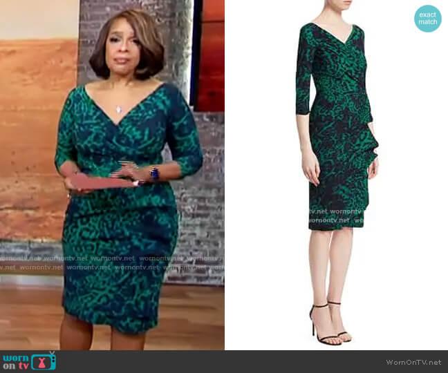 Chiara Boni La Petite Robe Florien Dress in Jungle Fever worn by Gayle King  on CBS This Morning