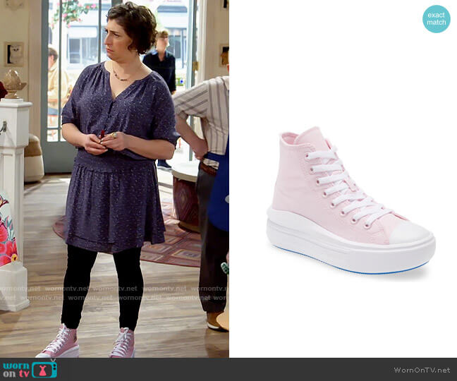 Converse All Star Move High Top Platform Sneaker worn by Kat Silver (Mayim Bialik) on Call Me Kat