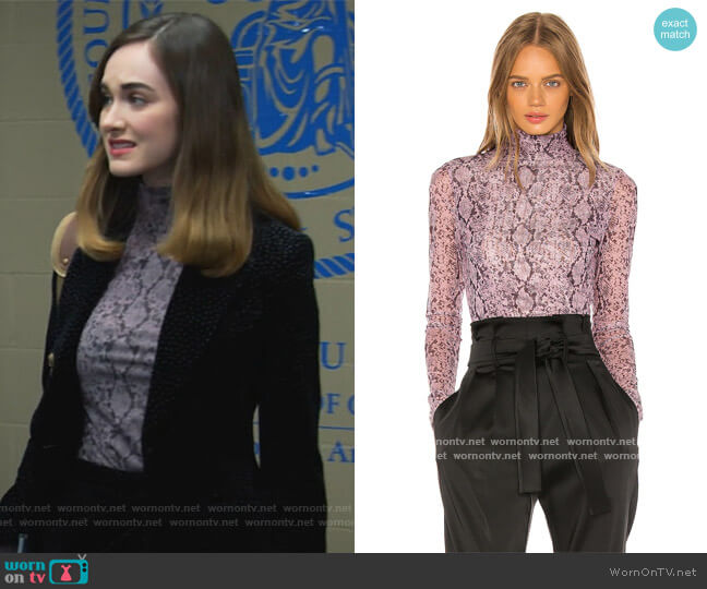 Python Turtleneck by Cinq a Sept worn by Samantha Powell (Audrey Corsa) on All Rise