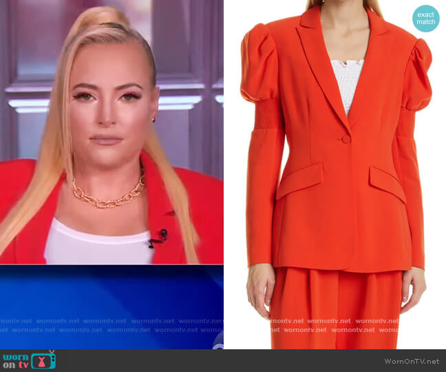 Starla Puff Sleeve Blazer by Cinq a Sept worn by Meghan McCain  on The View