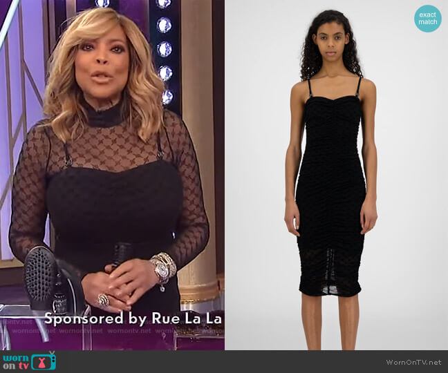 Black Monogram Hola Dress by Daily Paper worn by Wendy Williams  on The Wendy Williams Show