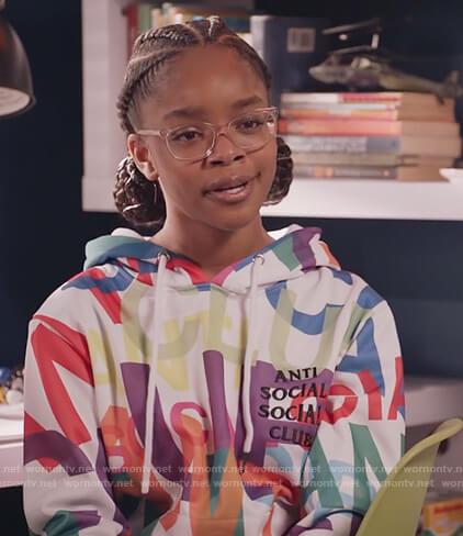 Diane's Anti Social printed hoodie on Black-ish