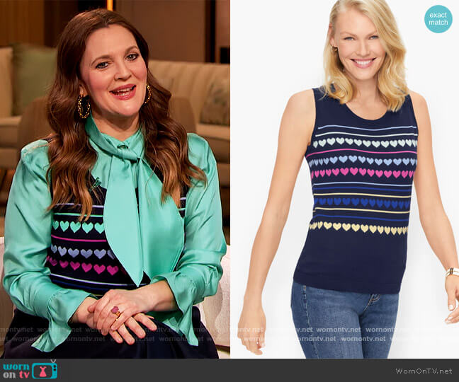 Charming Shell by Talbots worn by Drew Barrymore  on The Drew Barrymore Show
