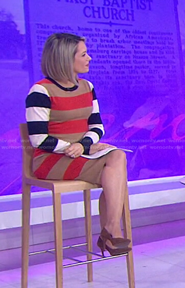 Dylan's striped knit dress on Today