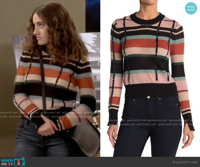 Ella Moss Denise Sweater in Hot Sauce worn by Jackie Raines (Rachel Sennott) on Call Your Mother