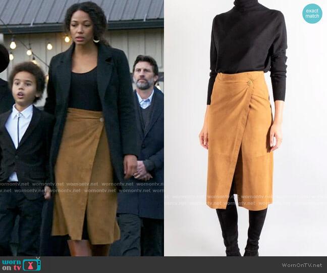 Forte Forte Suede Wrap Skirt worn by Cassie Dewell (Kylie Bunbury) on Big Sky