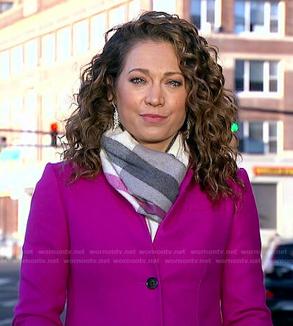 Ginger's pink coat on Good Morning America