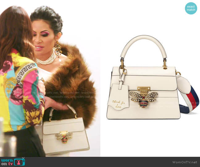 Queen Margaret Top Handle Leather Satchel by Gucci worn by Jen Shah  on The Real Housewives of Salt Lake City