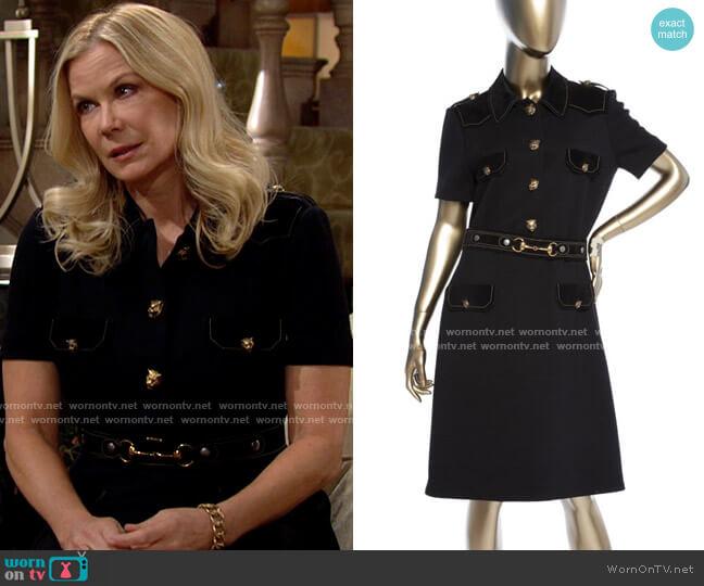 Gucci Wool Shirtdress worn by Brooke Logan (Katherine Kelly Lang) on The Bold & the Beautiful