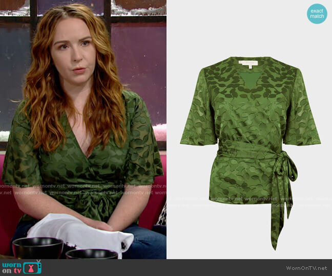 Hobbs Dorothy Blouse worn by Mariah Copeland (Camryn Grimes) on The Young & the Restless