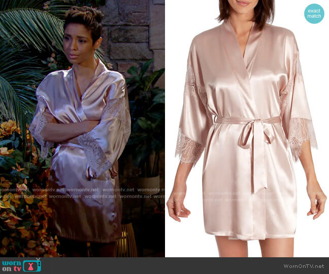 In Bloom by Jonquil Picture Perfect Short Wrap worn by Elena Dawson (Brytni Sarpy) on The Young & the Restless