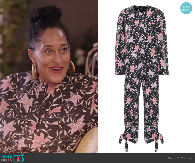 Gigi printed cotton jumpsuit by Isabel Marant worn by Rainbow Johnson (Tracee Ellis Ross) on Blackish
