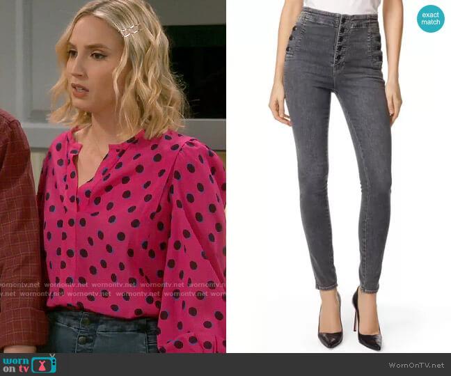 J Brand Natasha Jeans worn by Mandy Baxter (Molly McCook) on Last Man Standing