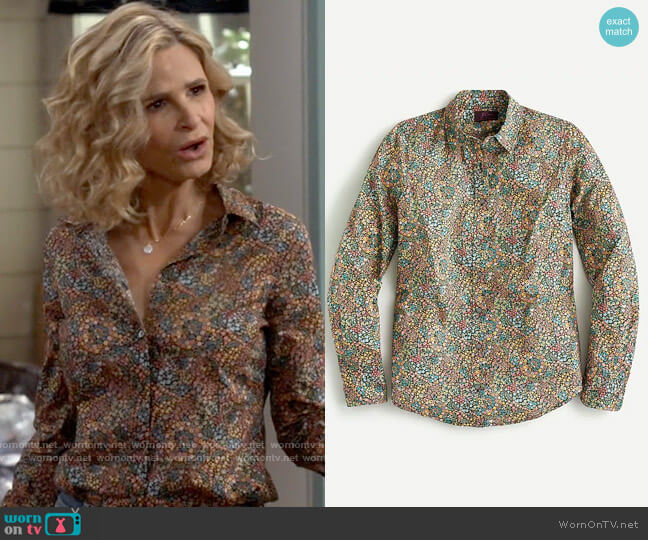 J. Crew Perfect shirt in Liberty® Little Marquess print worn by Jean Raines (Kyra Sedgwick) on Call Your Mother