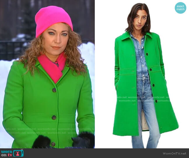 Classic Lady Day Coat by J. Crew worn by Ginger Zee  on Good Morning America