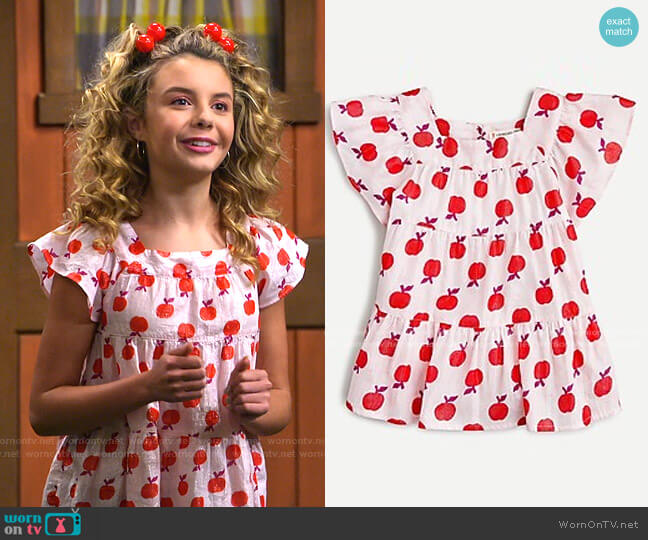 Girls' Apple Graphic Tee  by J. Crew worn by Destiny Baker (Mallory James Mahoney) on Bunkd