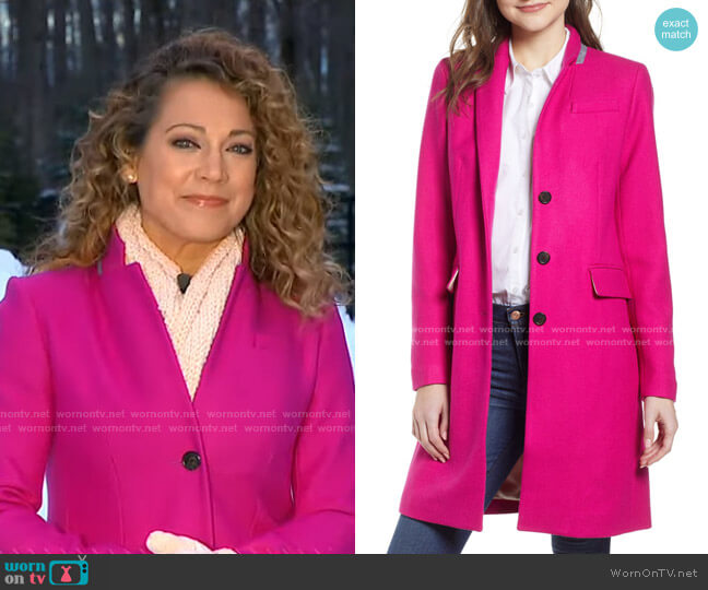 Regent Topcoat by J. Crew worn by Ginger Zee  on Good Morning America