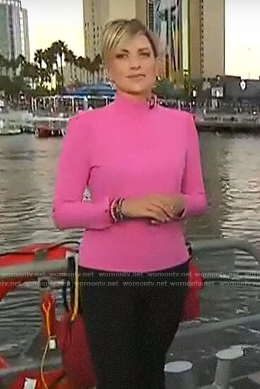 Jamie Yuccas's pink mock neck top on CBS This Morning