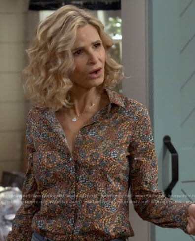 Jean's floral button down shirt on Call Your Mother