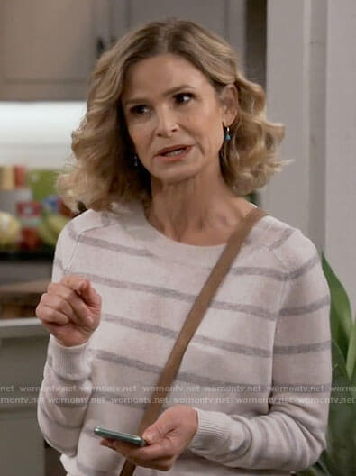 Jean's white and grey striped sweater on Call Your Mother