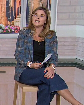 Jenna's blue plaid blazer on Today
