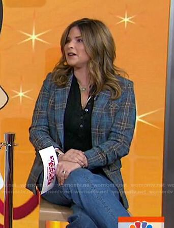Jenna's blue plaid blazer on Today
