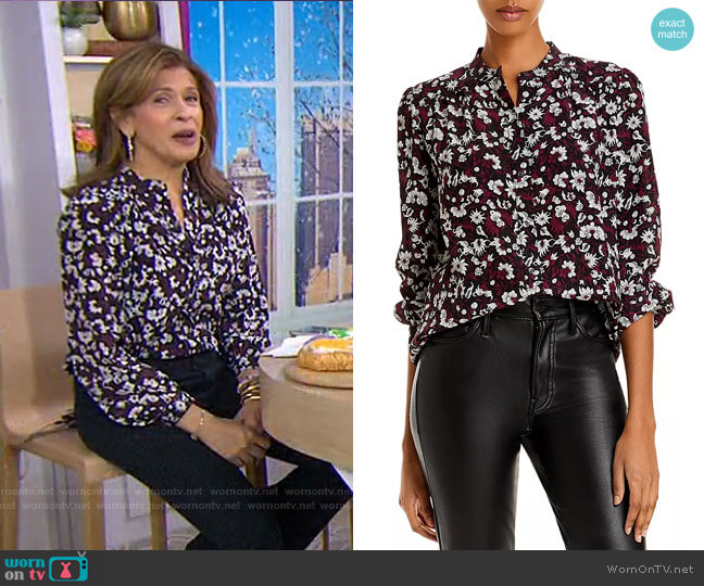 Myella Floral Puff Sleeve Silk Top by Joie worn by Hoda Kotb  on Today