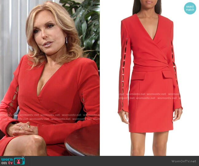 Jonathan Simkhai Staple Sleeve Compact Dress worn by Lauren Fenmore (Tracey Bregman) on The Young & the Restless