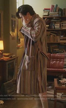 Jughead's stripe robe on Riverdale