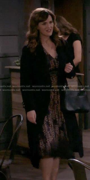 Julia's floral midi dress on B Positive